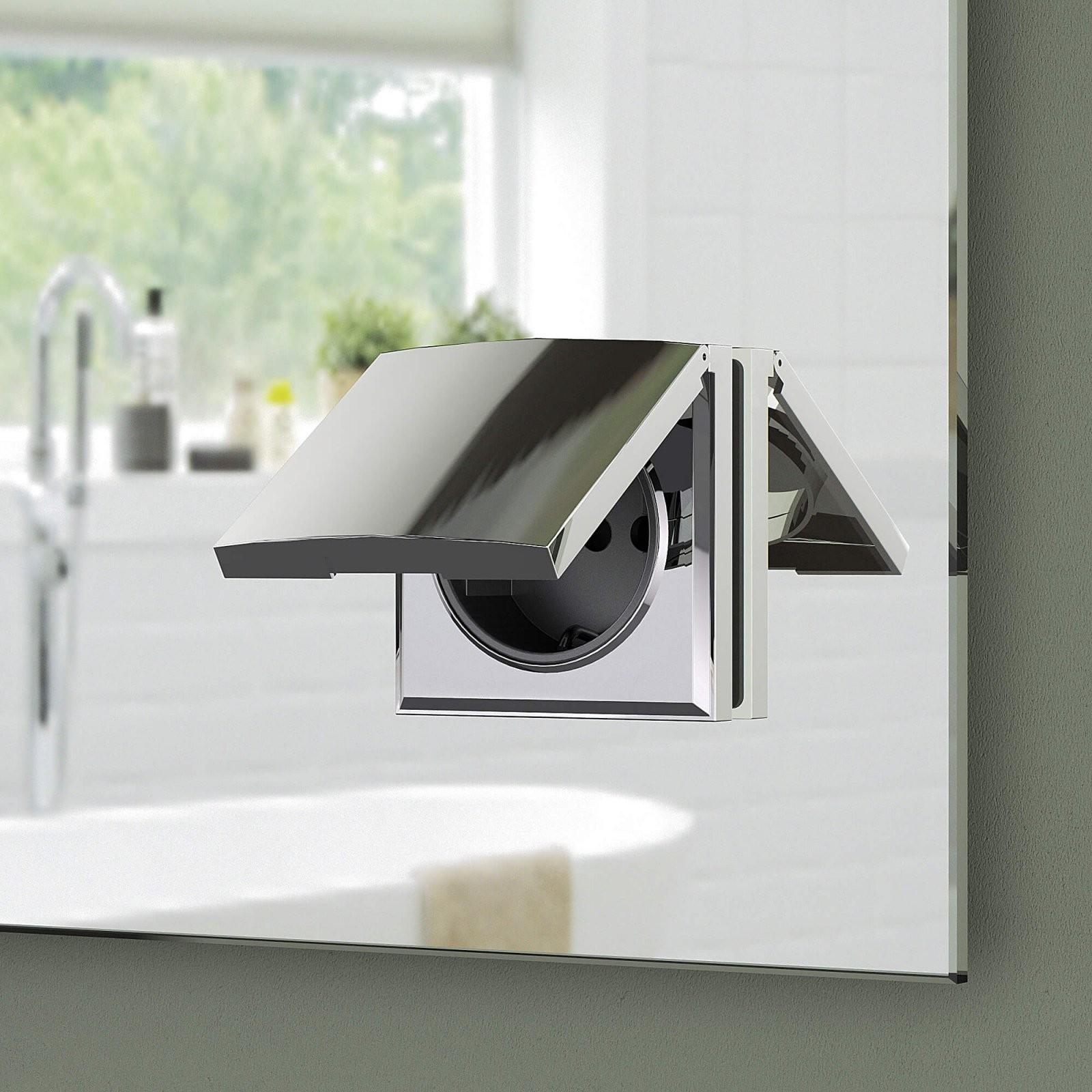 Badspiegel Mit Ablage  Badezimmerspiegel Mit Steckdose von Led Spiegel Mit Steckdose Bild