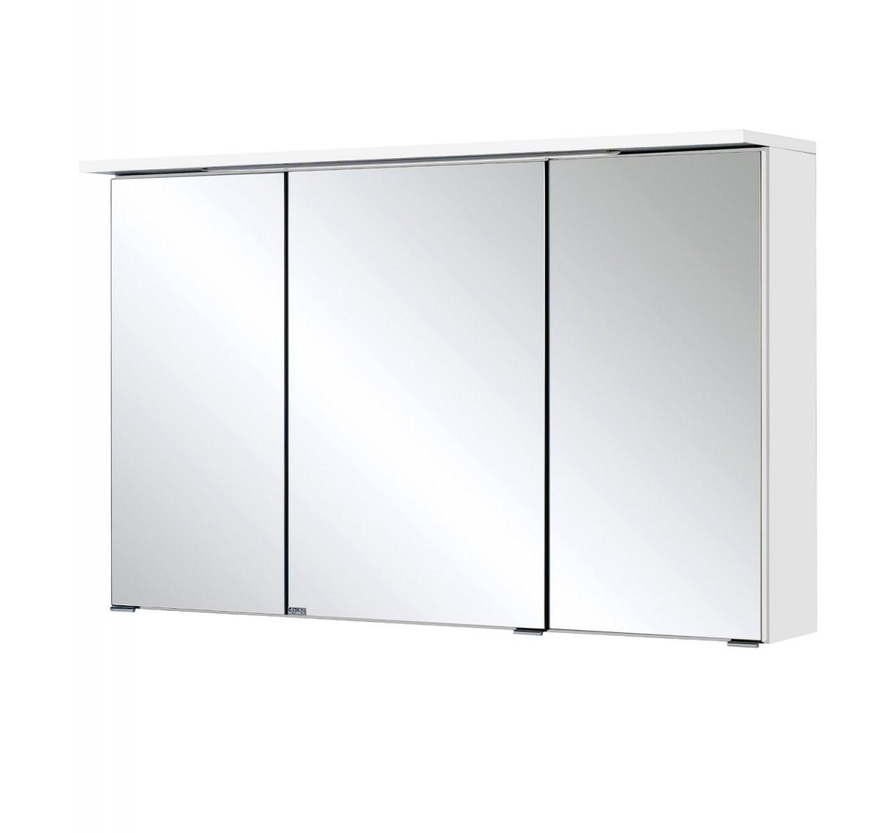 Badspiegelschrank Bologna  3Türig Mit Ledlichtleiste  100 Cm von Bad Spiegelschrank 100 Cm Breit Bild
