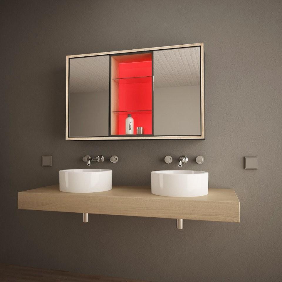 Badspiegelschrank Mit Ledbeleuchtung Illumino 989705290 von Spiegelschränke Mit Led Beleuchtung Photo
