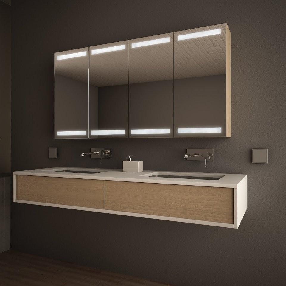 Badspiegelschrank Mit Licht Kumpikin 989705270 von Bad Spiegelschrank Mit Beleuchtung Günstig Bild