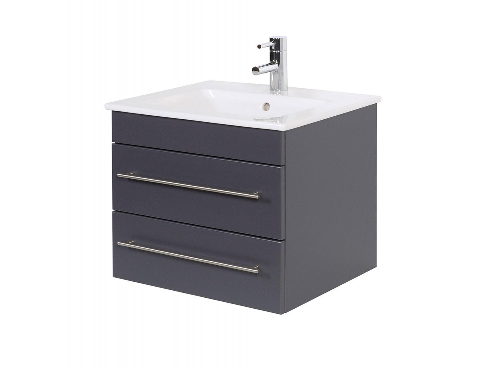 Badwaschtisch Mit Villeroy  Boch Becken Venticello  60 Cm Breit von Villeroy Und Boch Doppelwaschbecken Mit Unterschrank Photo