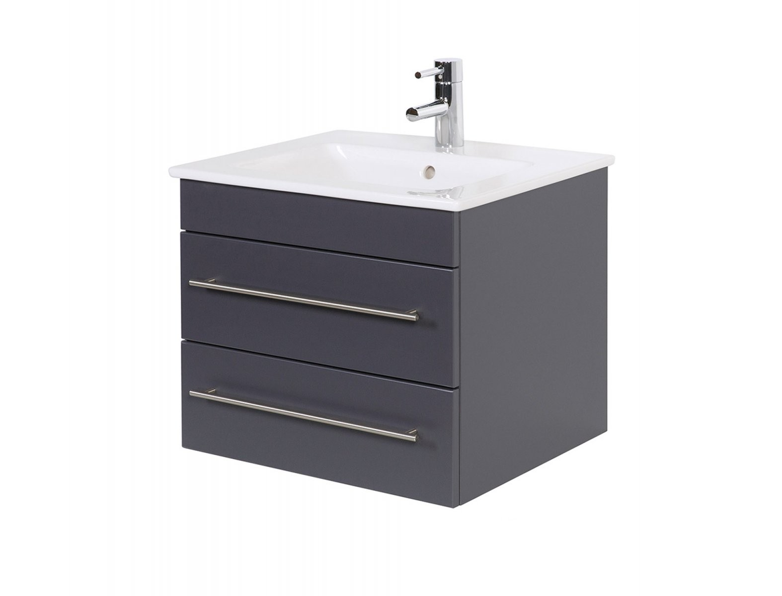 Badwaschtisch Mit Villeroy  Boch Becken Venticello  60 Cm Breit von Villeroy Und Boch Waschtisch Mit Unterschrank Bild