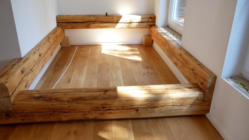 Balkenbett  Bett Selber Bauen  Mademyself  Dein Diy von Bett Selber Bauen Balken Bild