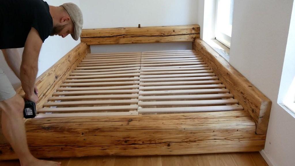 Balkenbett  Bett Selber Bauen  Mademyself  Dein Diy von Bett Selber Bauen Balken Photo