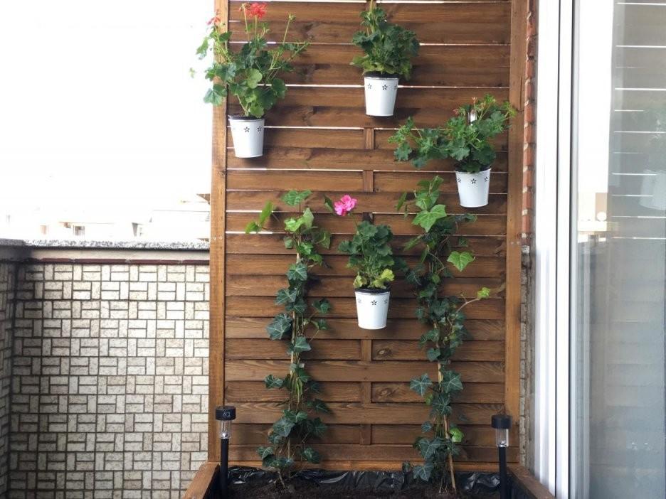 Balkon Sichtschutz Blumenkübel Diy Anleitung  Idatschka von Balkon Sichtschutz Selber Machen Bild