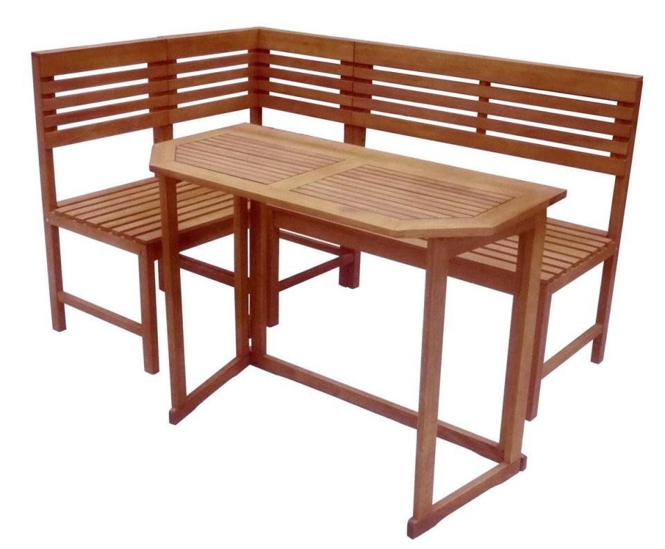 Balkoneckbank Mit Tisch Sante Fe Balkonmöbel Holzmöbel Sitzgruppe von Balkon Eckbank Mit Tisch Bild