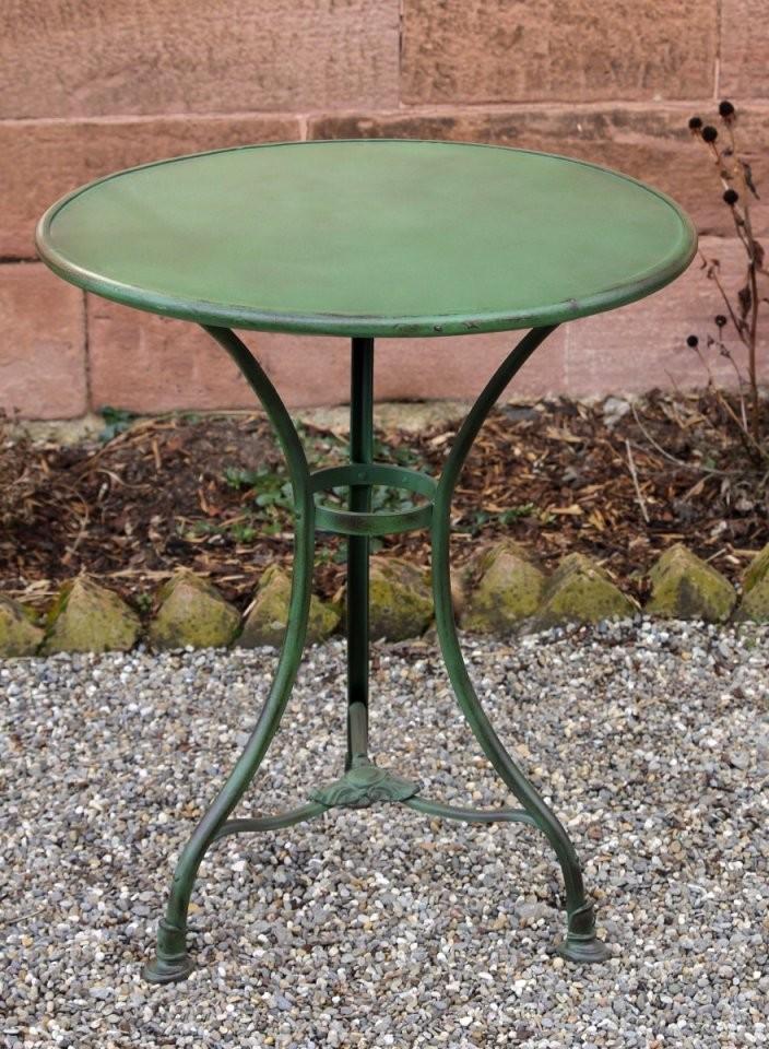 Balkontisch Rund Cheap Great Table Round Artdeco Design Metalwood von Gartentisch Rund 60 Cm Bild
