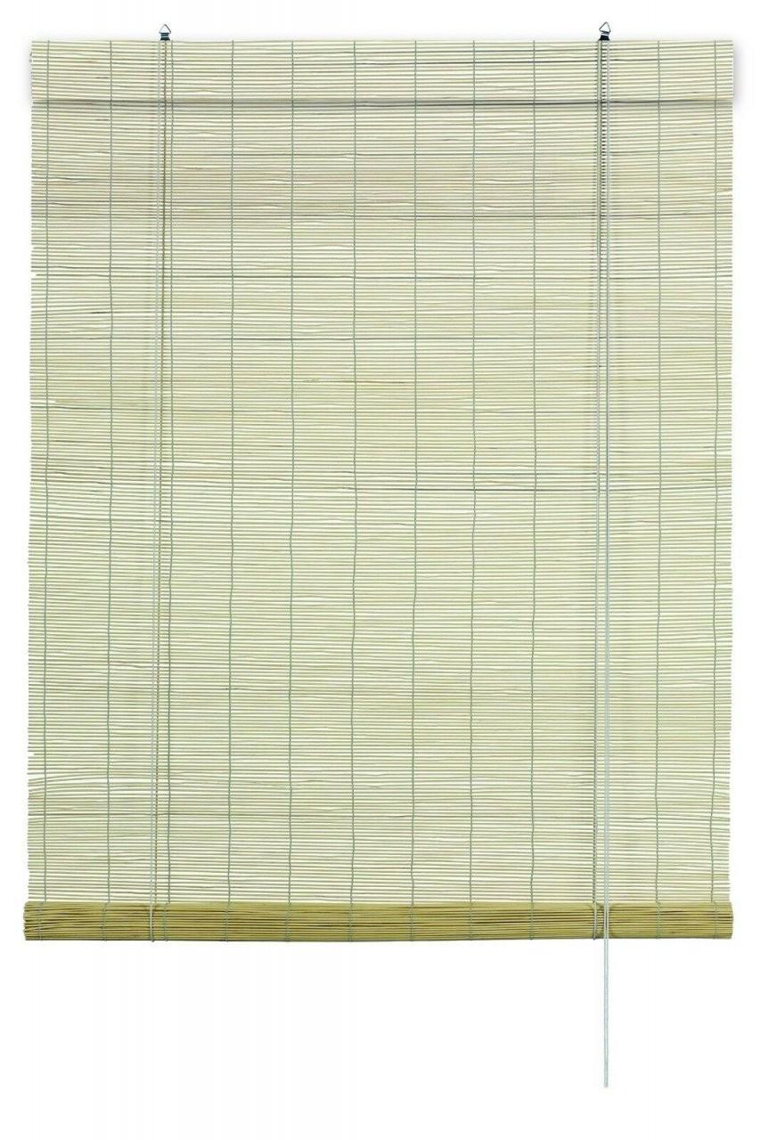 Bambus Rollo Natur Raffrollo Faltrollo  Schnurzug  Sichtschutz von Rollo 160 Cm Breit Bild