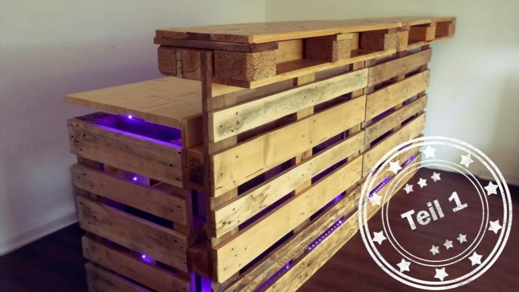 Bar Selber Bauen (Aus Europaletten)  Teil 1  Youtube von Theke Aus Europaletten Anleitung Bild