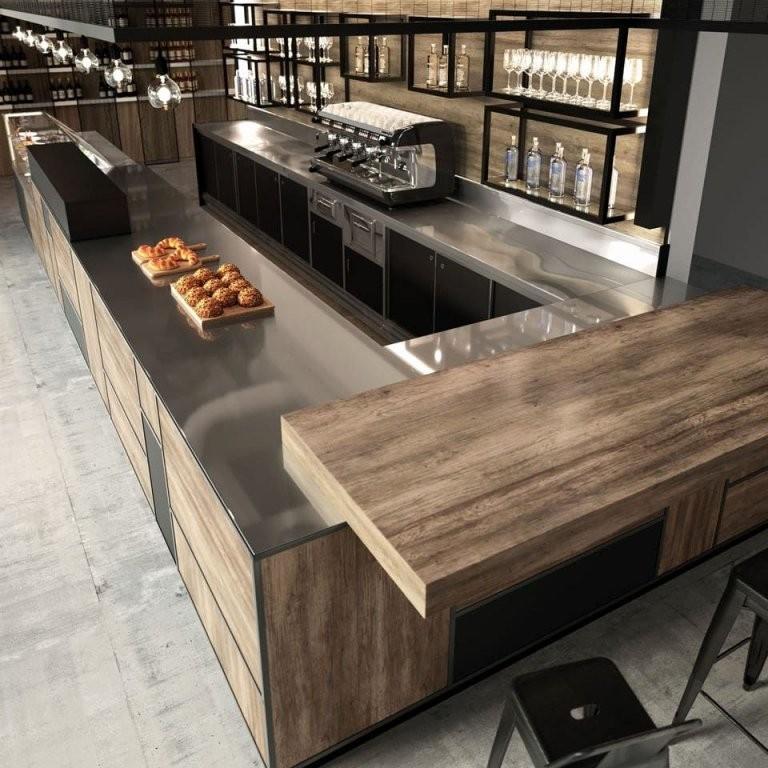 Bar Theke Gastronomie Gebraucht Bar Theke Holz Cheap Full Size Bar von Theke Selber Bauen Holz Bild