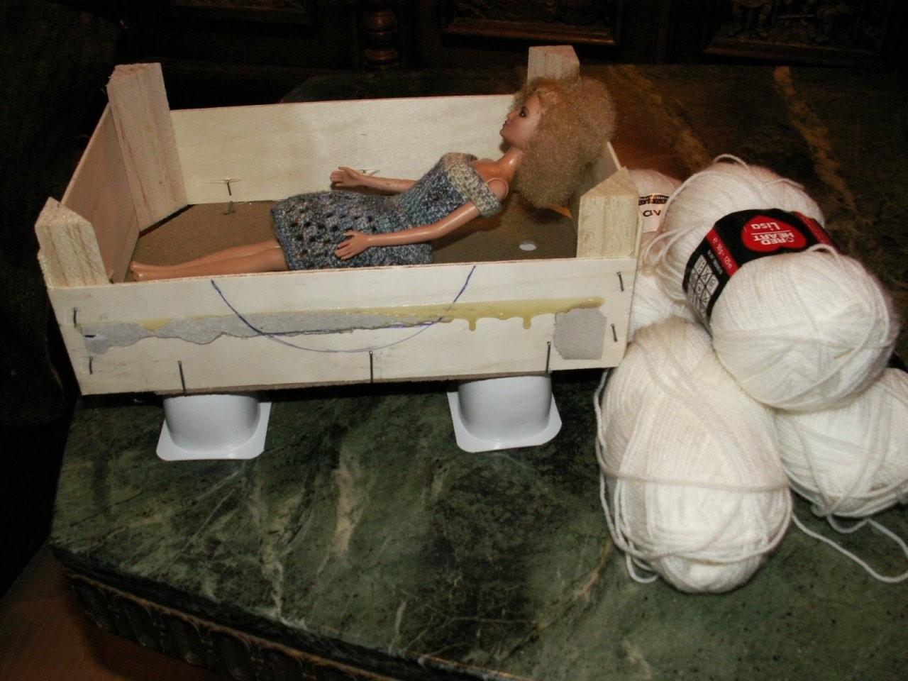 Barbie Bett Basteln Dansenfeesten Barbie Bett Selber Bauen  Bett Ideen von Barbie Bett Selber Bauen Photo