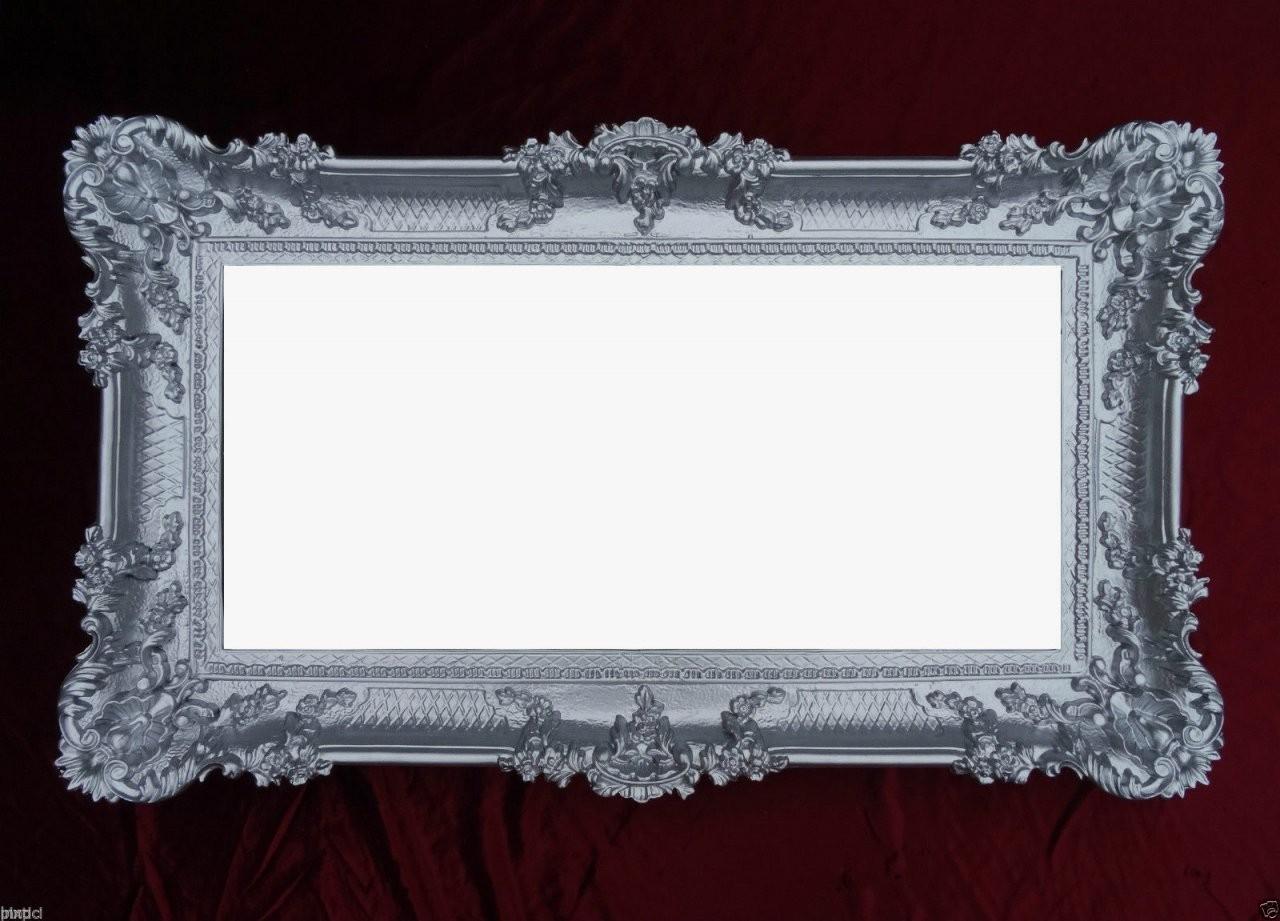 Barock Wandspiegel Silber Spiegel Antik 97X57 Groß  Kaufen Bei von Barock Spiegel Silber Groß Photo