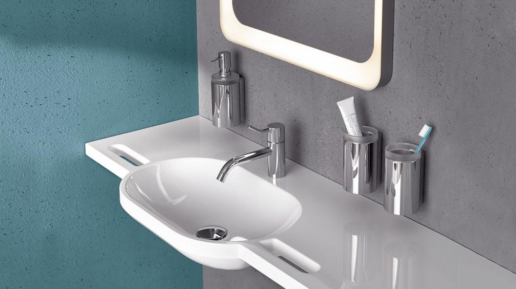 Barrierefreie Waschtische Lösungen Für Den Sanitärbereich  Hewi von Waschbecken 35 Cm Tief Bild