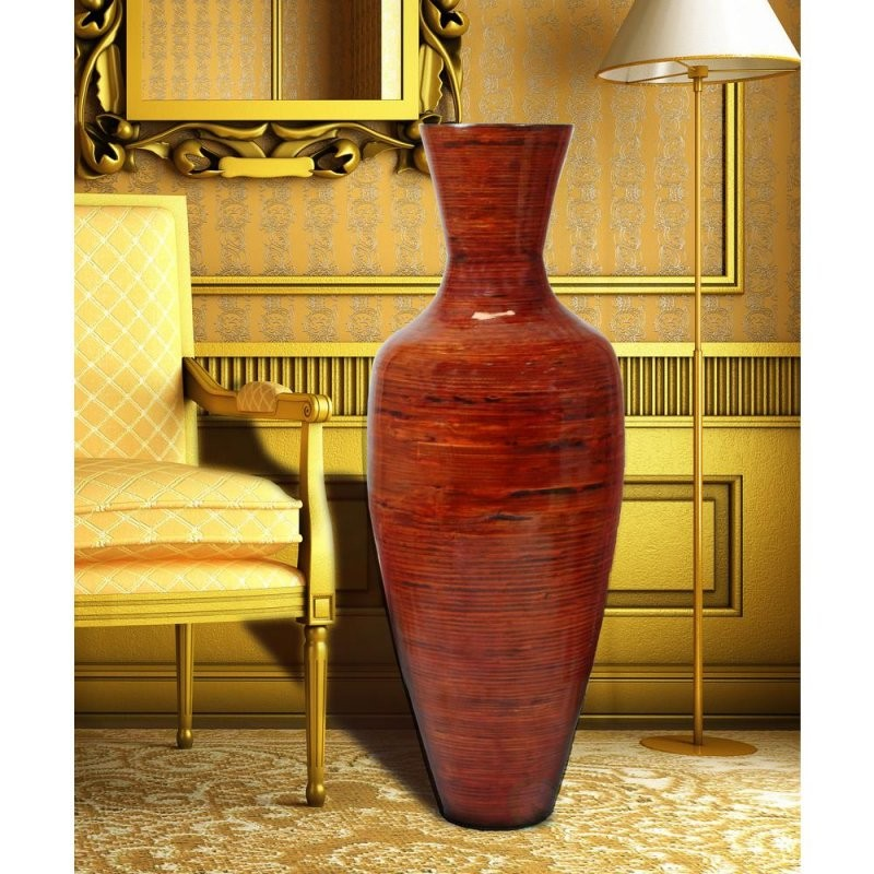 Basicwise 375 In Reds And Pinks Tall Bamboo Floor Decorative Vase von Very Tall Floor Vases Photo