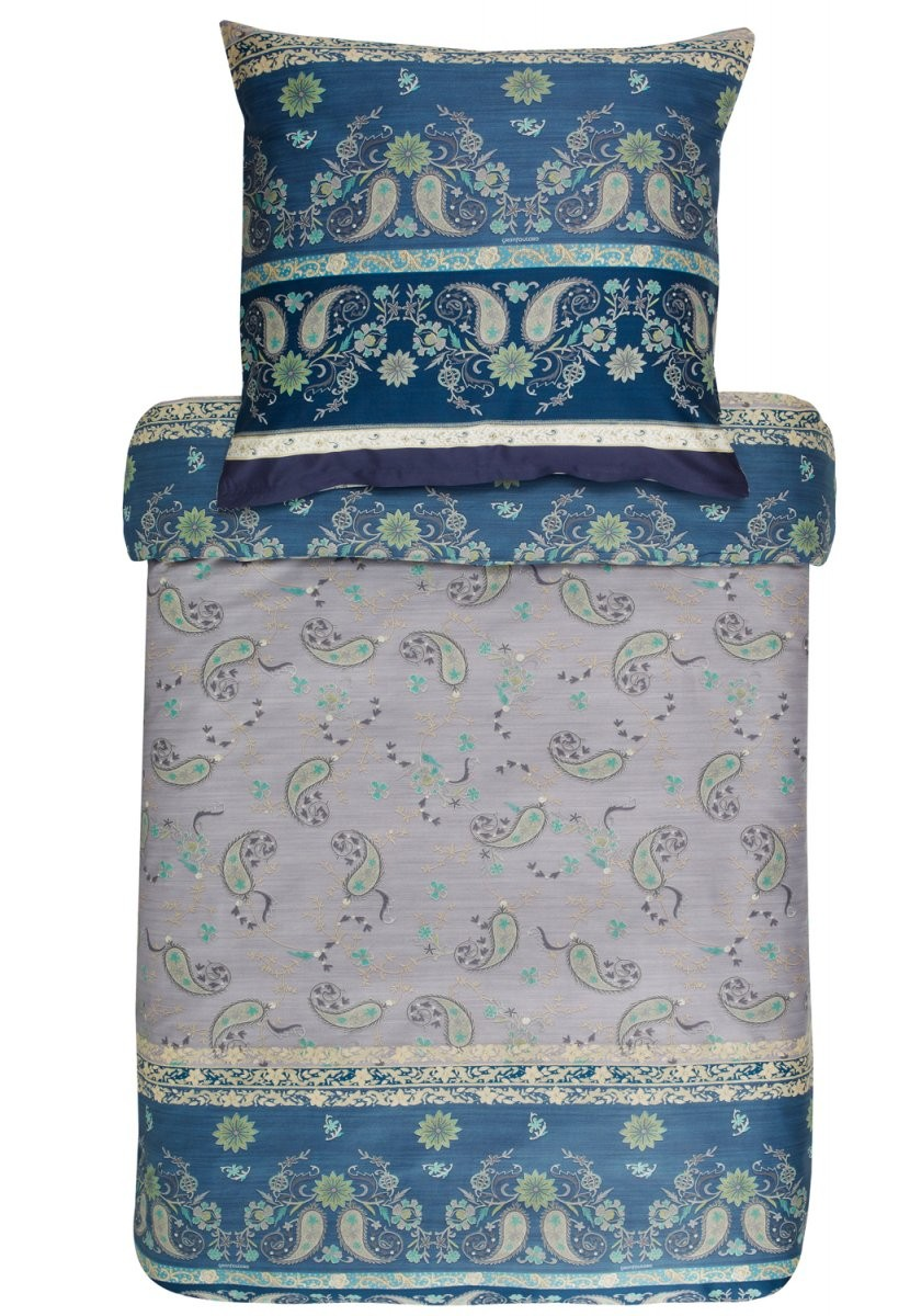 Bassetti Bettwäsche Raffaello V7 Blau 100% Baumwolle Ornamente von Bassetti Bettwäsche 200X220 Bild