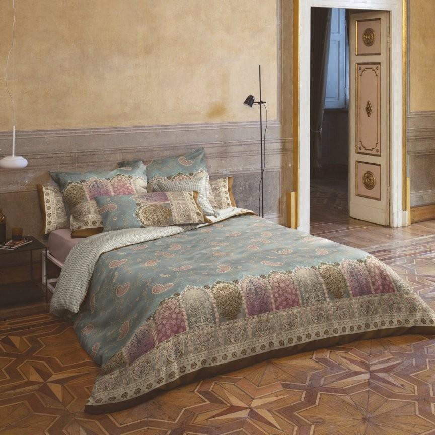 Bassetti Mako Satin Bettwäsche Jaipur Grau Limited Edition V7 von Bassetti Bettwäsche 155X220 Reduziert Bild