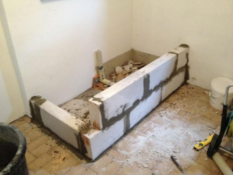 Bau Eines Waschmaschinenpodests  Teil 1  Operation Eigenheim von Waschmaschinen Erhöhung Selber Bauen Photo