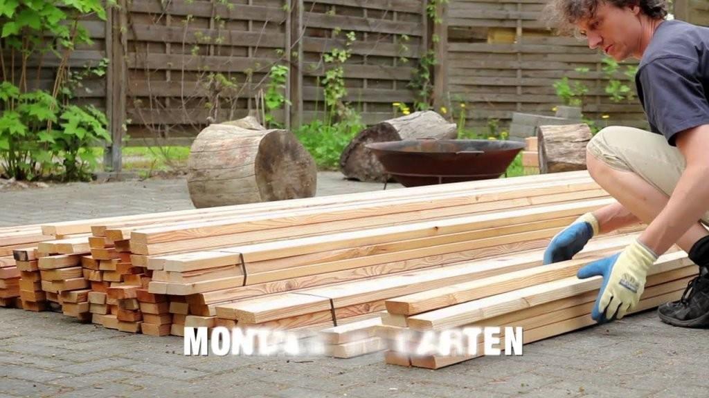 Bau Sichtschutzzaun Aus Rhombusleisten Sib Lärche  Youtube von Sichtschutz Lärche Selber Bauen Photo