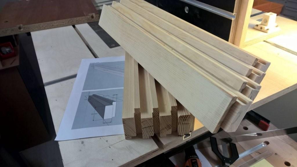 Bau Von Shojitüren  Japanzimmer Teil2  Bauanleitung Zum von Japanische Schiebetüren Selber Bauen Bild