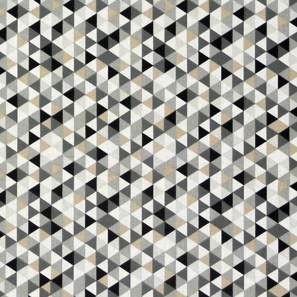 Baumwollstoff Dreiecke Weiß Schwarz Grau von Gardinen Schwarz Weiß Grau Bild