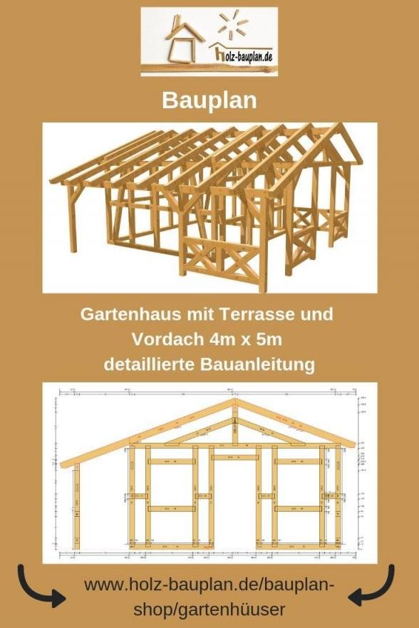 Bauplan Gartenhaus  Holzhaus Selber Bauen  Gartenhütte Bauen von Blockhaus Selber Bauen Anleitung Bild
