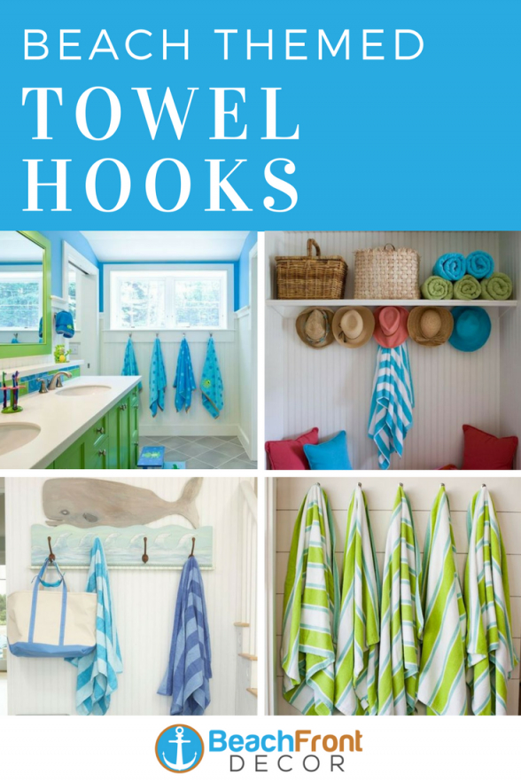 Beach Wall Hooks And Beach Towel Hooks  Beach Decor  Towel Hooks von Beach Themed Towel Hooks Bild