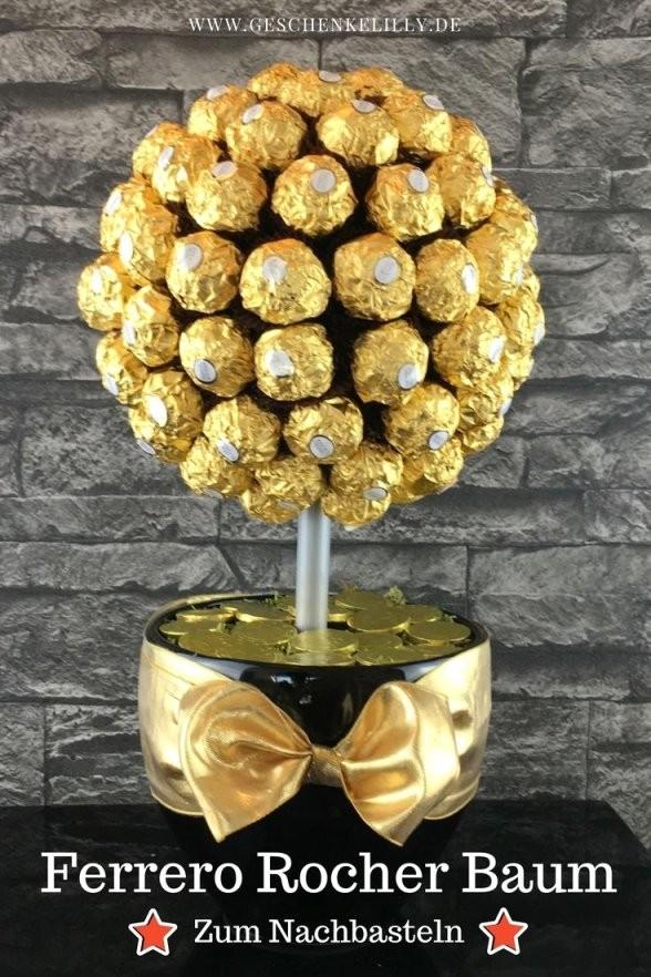 Beautiful Ferrero Rocher Baum Mit Personalisierte 19 Und Il Von Für von Rocher Baum Basteln Anleitung Bild