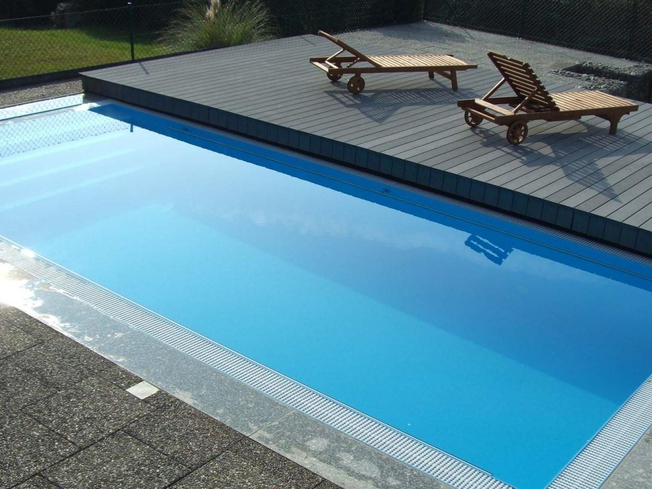 Begehbare Terrassen Schwimmbadabdeckung …  Pool Stuff von Aufblasbare Poolabdeckung Selber Bauen Bild