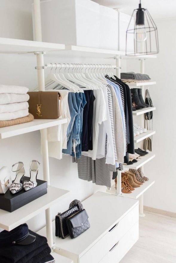 Begehbarer Kleiderschrank  Ikea  Stolmen  Ankleidezimmer von Begehbarer Kleiderschrank Ikea Stolmen Bild