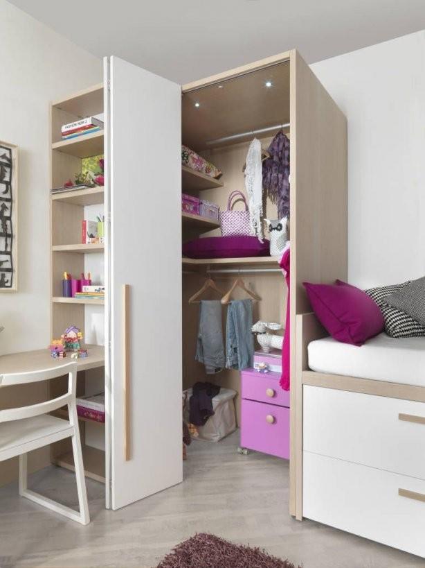 Begehbarer Kleiderschrank Mit Falttür Kinderzimmer Von Mobimio von Jugendzimmer Mit Begehbarem Schrank Bild