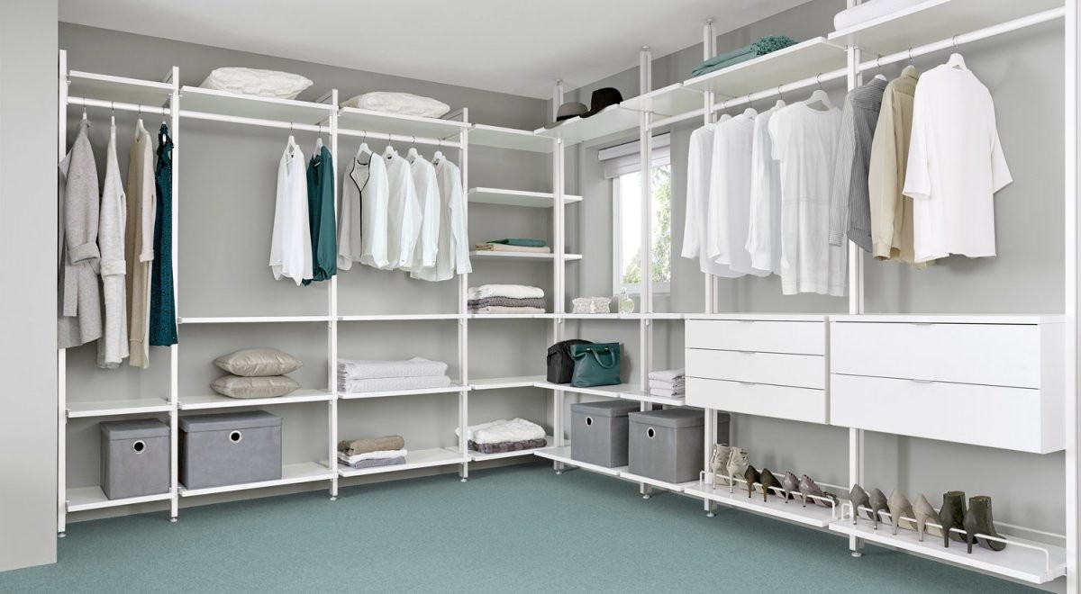 Begehbarer Kleiderschrank  Online Planen + Kaufen  Regalraum von Begehbarer Kleiderschrank System Günstig Bild
