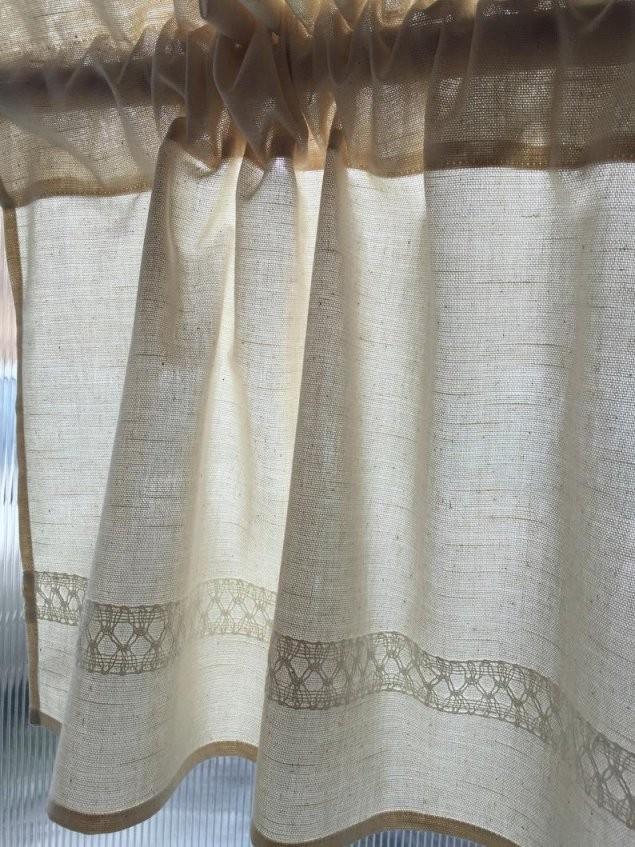 Beige Baumwolle Vorhänge Cafe Vorhänge Küche Volant Leinen  Etsy von Vorhänge Für Die Küche Bild