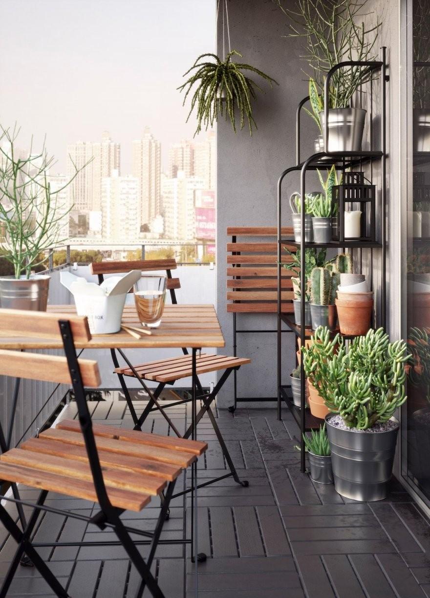 Besonderes Design Für Kleinen Balkon In 2019  Terrace  Balkon von Tisch Für Kleinen Balkon Photo