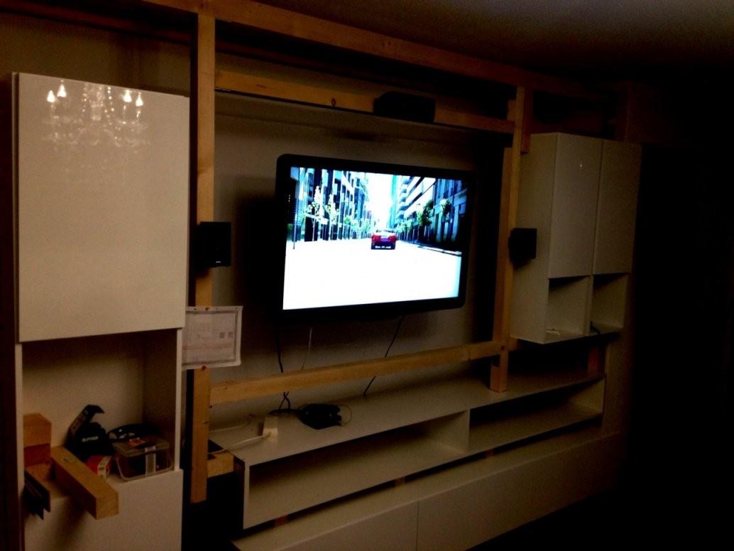 Beste Wohnwand Selber Bauen Ideen Wohnzimmer Tv Wand Front von Hifi Wand Selber Bauen Photo