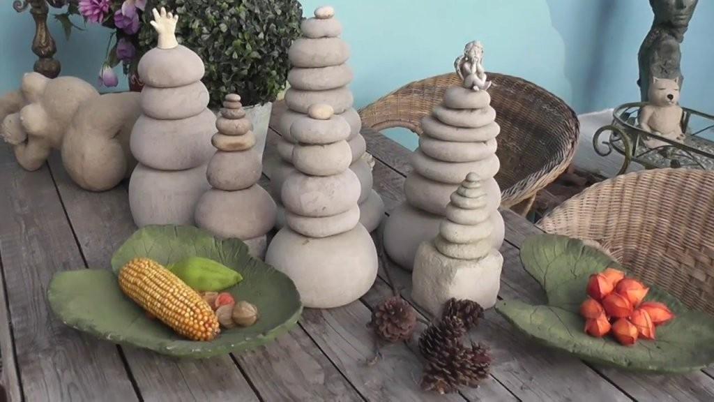 Beton Giessen Diy Gartenstehlen Gartendeko Skulptur  Youtube von Gartendeko Aus Beton Selbstgemacht Photo