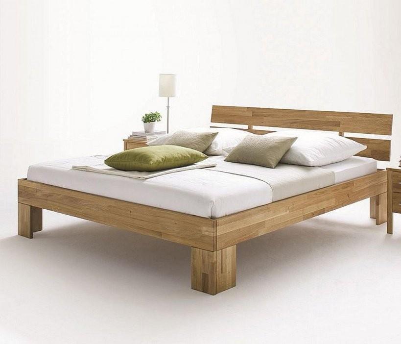 Bett 160X220 Kopfteil Geteilt Wildeiche Massiv Geölt von Bett 160 X 220 Photo