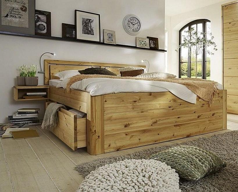Bett 180X200 2X2 Schubladen Comforthöhe 49Cm Mit Kopfteil A1 von Doppelbett Kiefer Massiv 180X200 Photo