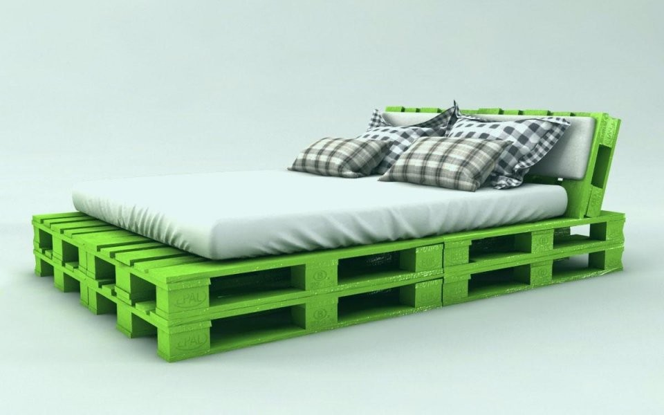 Bett Aus Europaletten Selber Bauen 140×200 Gemütlich Palettenbett von Europaletten Bett Bauen 140X200 Bild