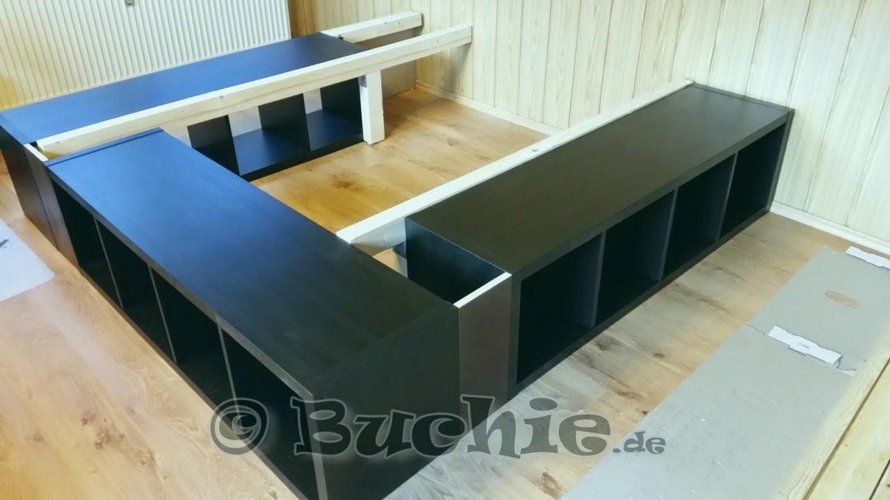 Bett Aus Ikea Möbeln Bauen Makellos Ikea Regal Kallax Ideen Bett von Bett Aus Ikea Regal Bauen Bild