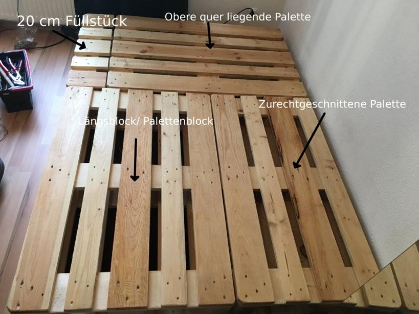 Bett Aus Paletten  So Baust Du Dir Ein Eigenes Bett Aus Paletten von Europaletten Bett Bauen 140X200 Photo