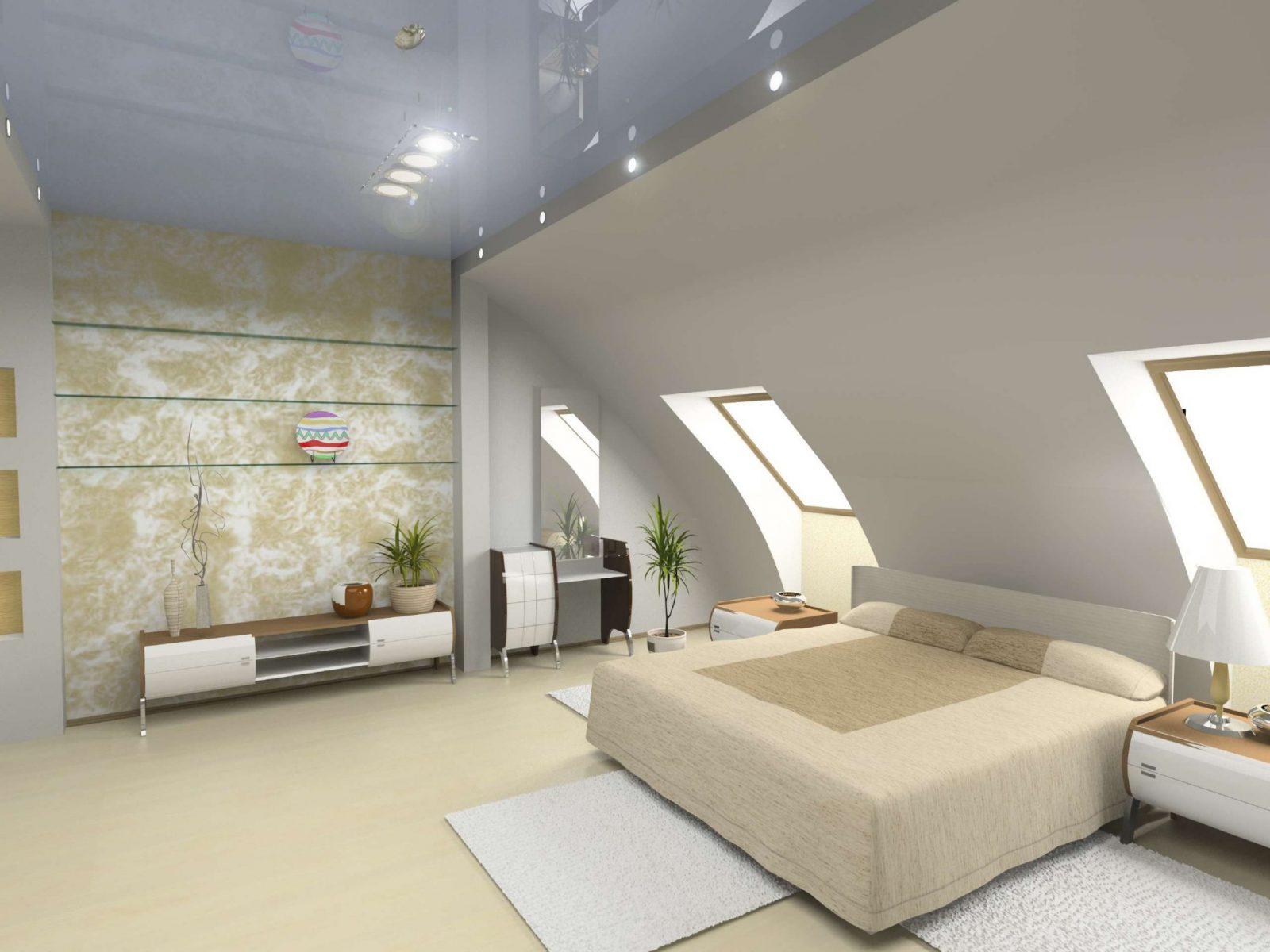 Bett Platzieren  Dachschräge Im Schlafzimmer von Bilder Für Schräge Wände Bild