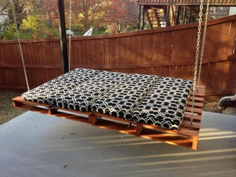 Bett Schaukel Für Erwachsene  Schaukel  Möbel Aus Paletten von Relax Schaukel Für Erwachsene Bild