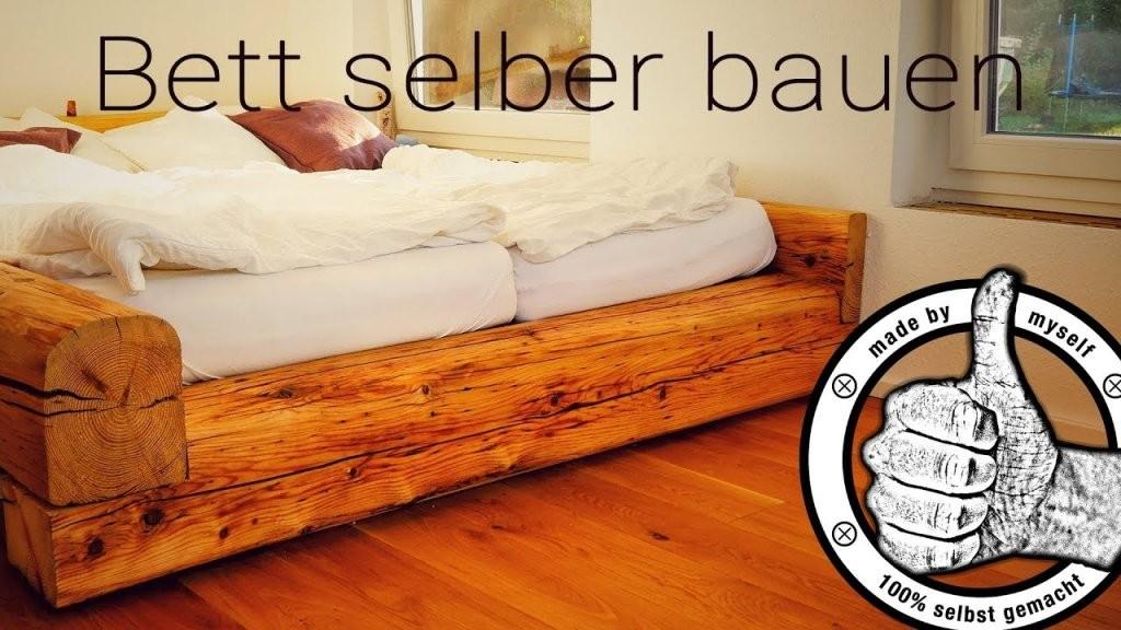 Bett Selber Bauen Diy Balkenbett Aus Alten Balken Selber Machen von Bett Selber Bauen Balken Bild