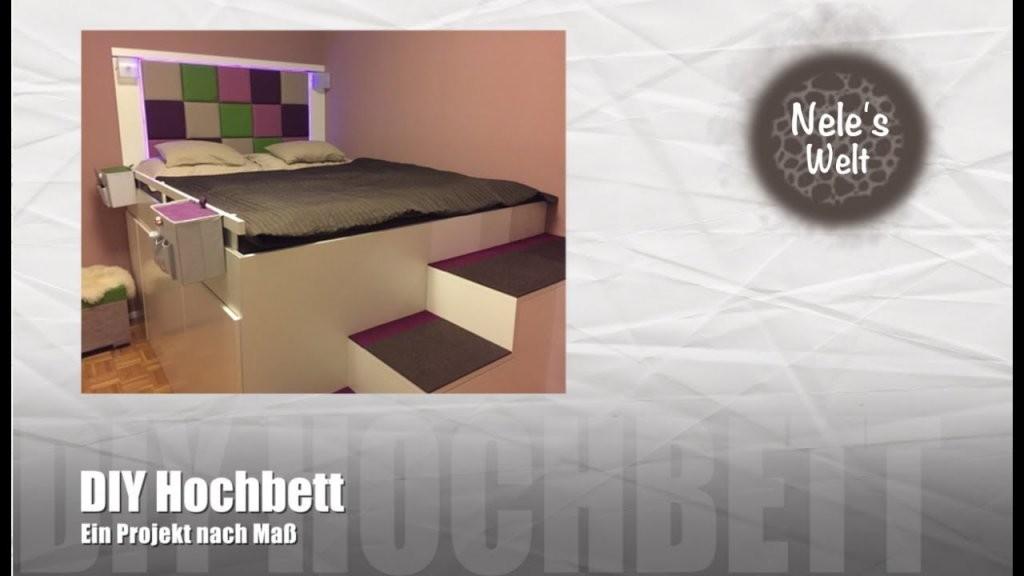 """Bett Selber Bauen """"ikea Hack"""" Diy Hochbett Aus Küchenschränken von Bett Aus Ikea Regal Bauen Bild"""