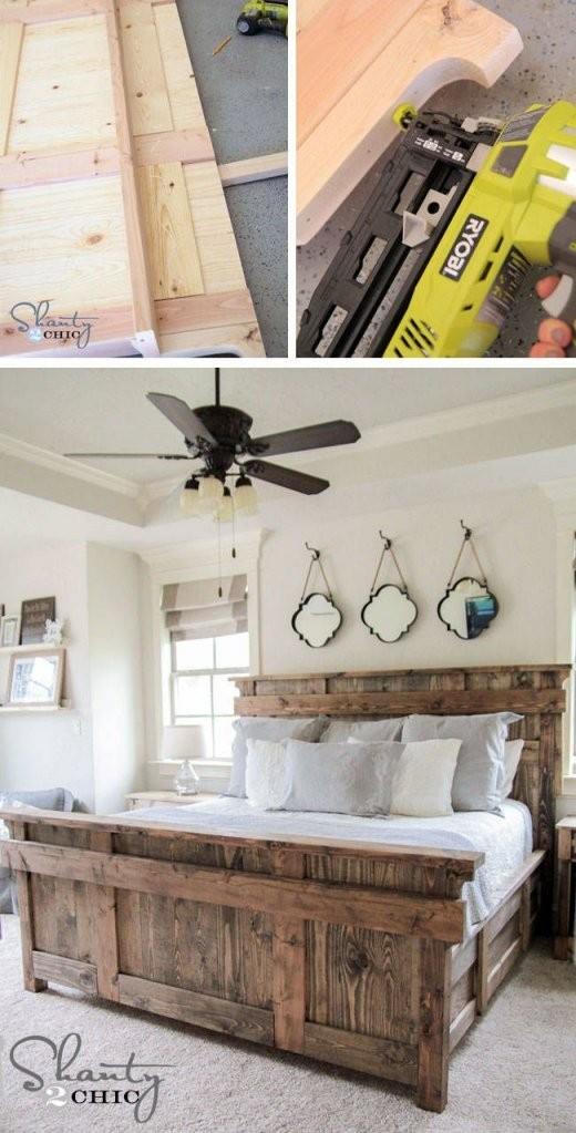 Bett Selber Bauen12 Einmalige Diy Bett Und Bettrahmen Ideen  For von Rustikale Möbel Selber Bauen Bild