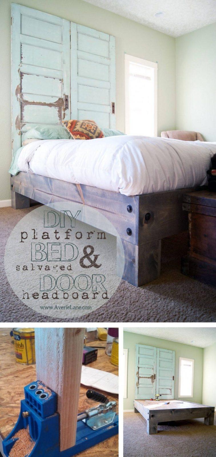 Bett Selber Bauen12 Einmalige Diy Bett Und Bettrahmen Ideen von Bett Bauen Mit Stauraum Photo
