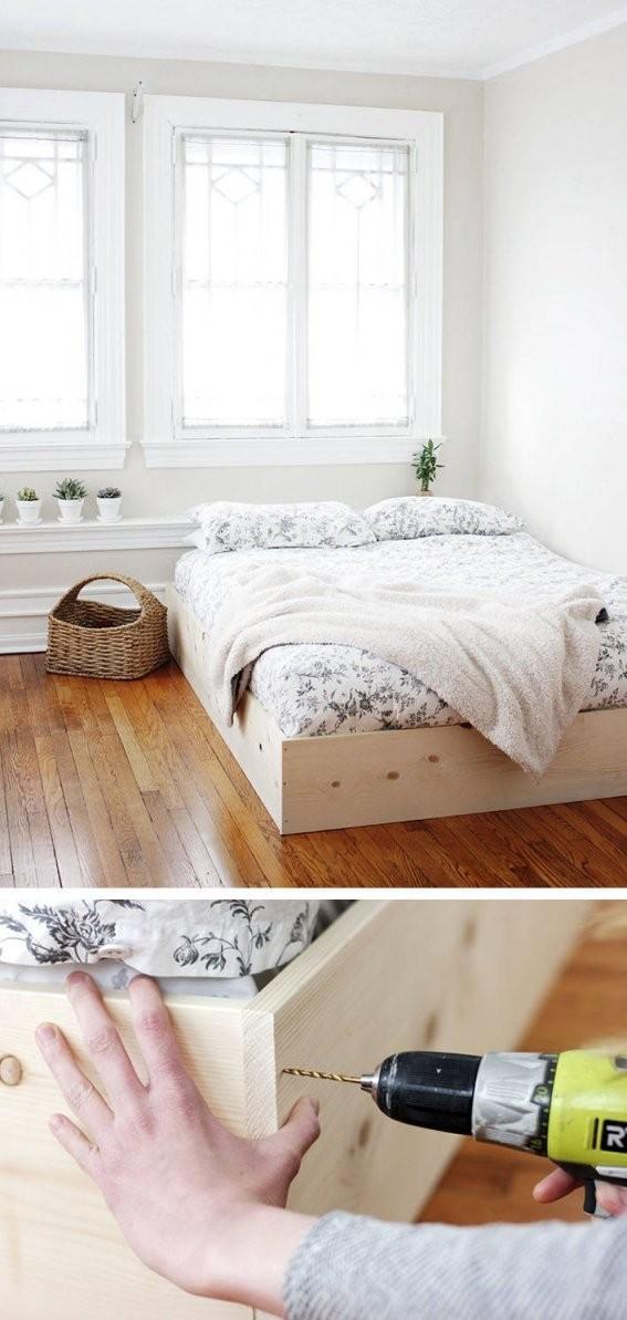 Bett Selber Bauen12 Einmalige Diy Bett Und Bettrahmen Ideen von Plattform Bett Selber Bauen Bild