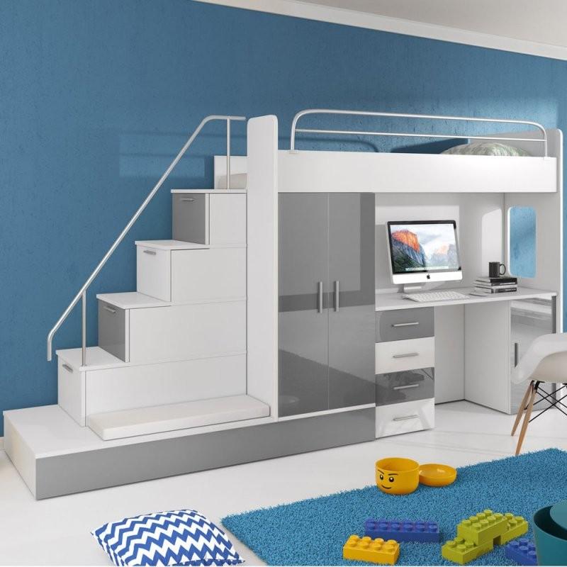 Bett Und Schrank In Einem Hochbett Kinderbett Mit Schreibtisch Und von Bett Mit Schreibtisch Und Schrank Photo