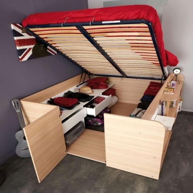 Bett Zum Ausziehen Selber Bauen  Bett Ideen von Bett Bauen Mit Stauraum Bild
