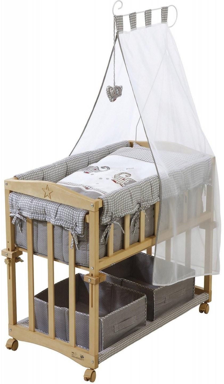 Betten Roba Stubenbett 4 In 1 Beistellbett Babybett Wiege Bank Holz von Roba Stubenbett Babysitter 4In1 Bild